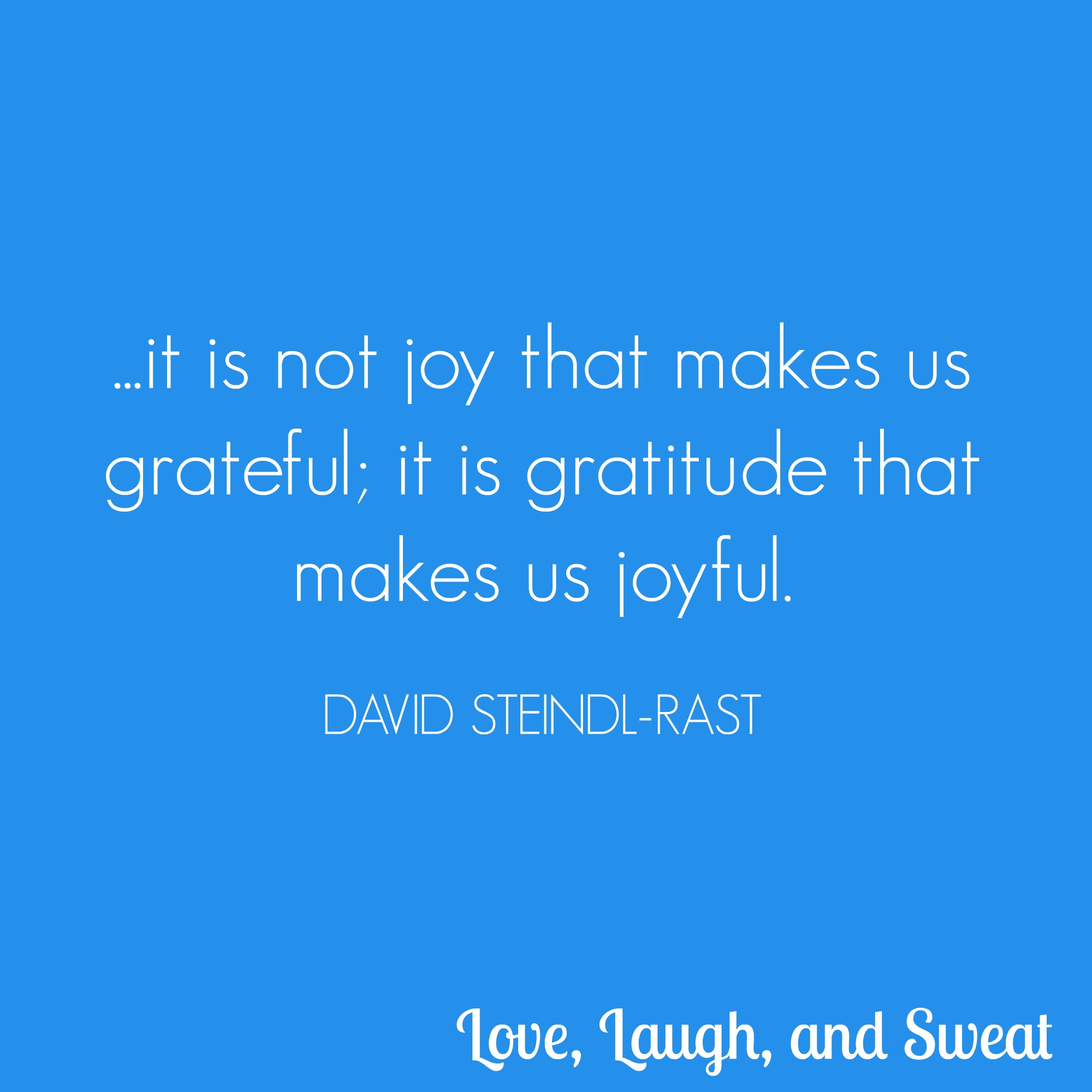 gratitude and joyful